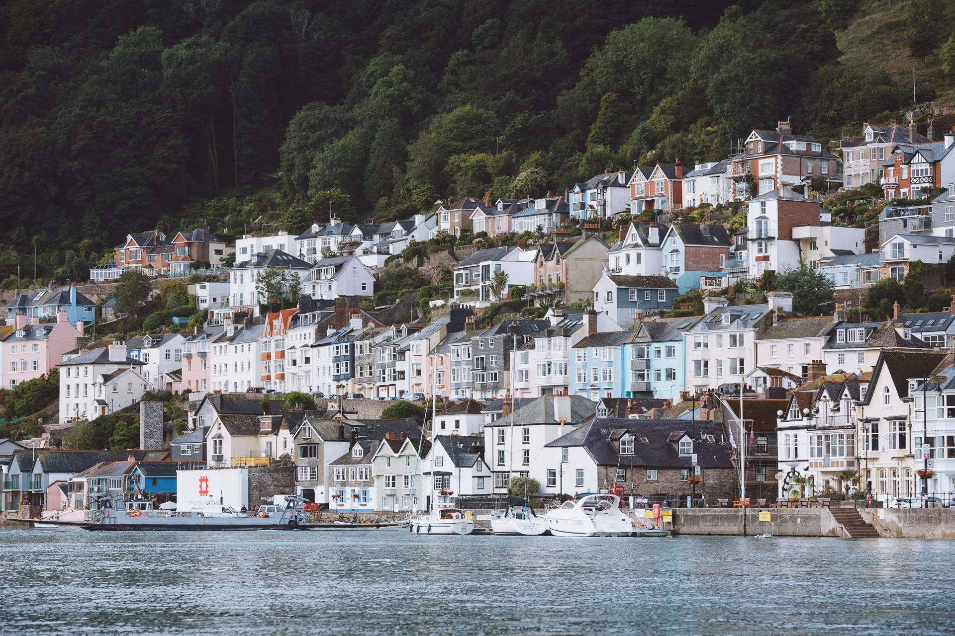 Dartmouth harbour and town