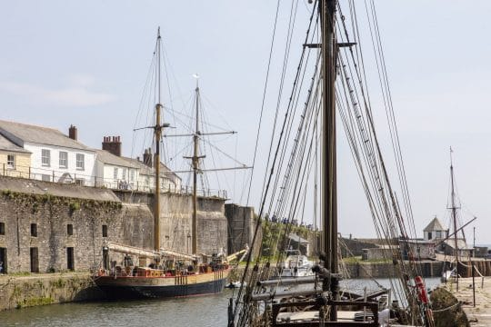 Johanna Lucretia in Charlestown harbour