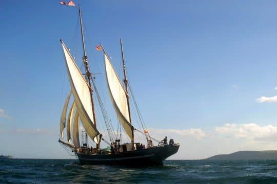 Bessie sailing in the Cornish winds