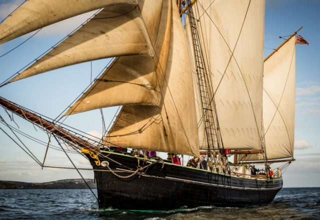 Sailing passage from Newlyn to Brest