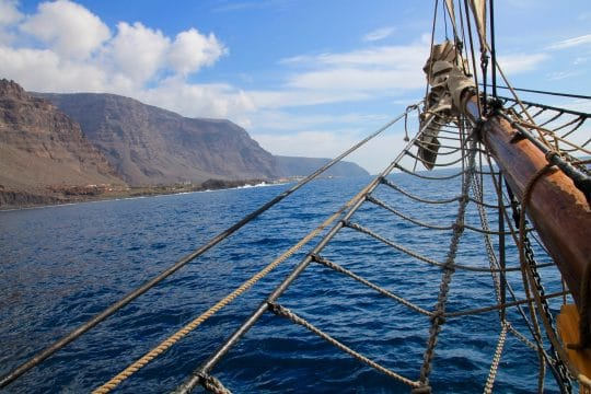 Bessie Ellen sailing in the Canary Islands