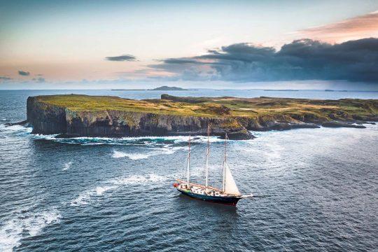 Blue Clipper anchored Scotland