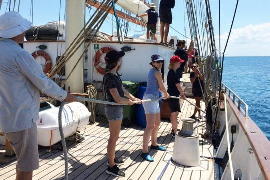 Blue Clipper guests on deck