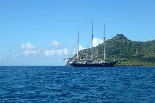 Blue Clipper sails down