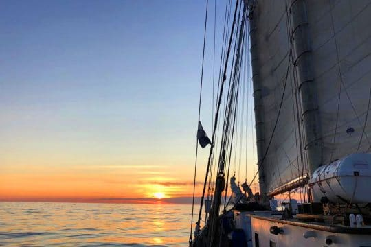 Blue Clipper sunset