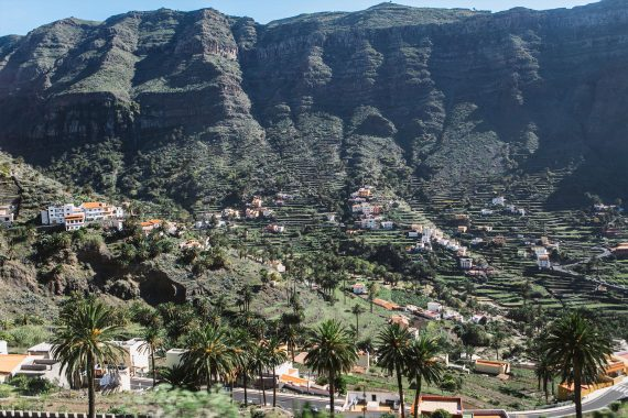 Canaries La gomera valley