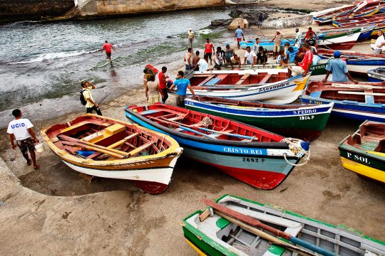 Cape Verde Oosterschelde fishing boats
