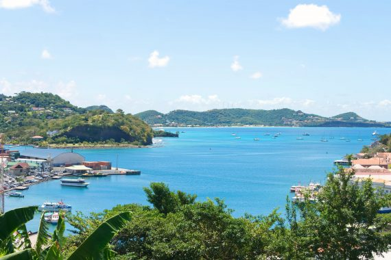 Carlisle Bay on the Caribbean island Grenada