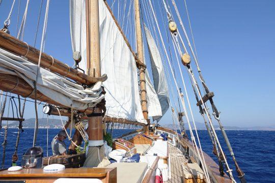 Circe under sail