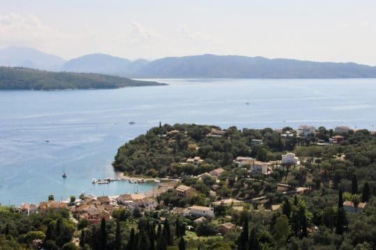 Corfu Greece Ionian channel view