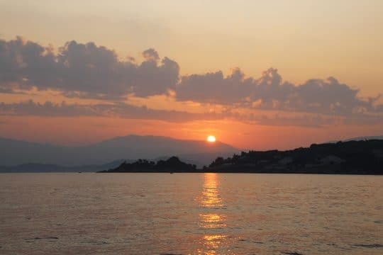 Corfu Greece Sunset
