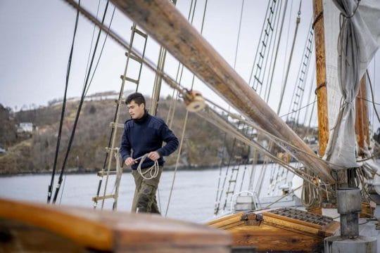 Linden on deck Fjord Norway