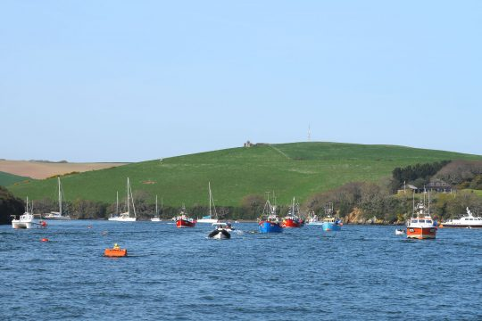 Devon Salcombe fishing boats