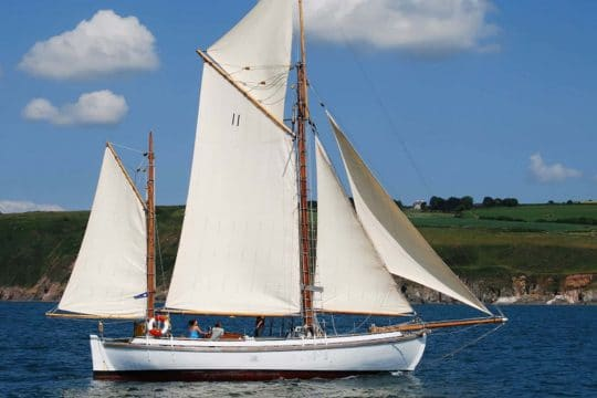 ESCAPE under full sail