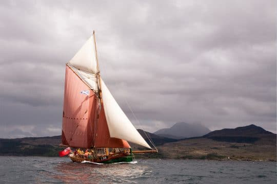 Eda Frandsen sailing in scotland