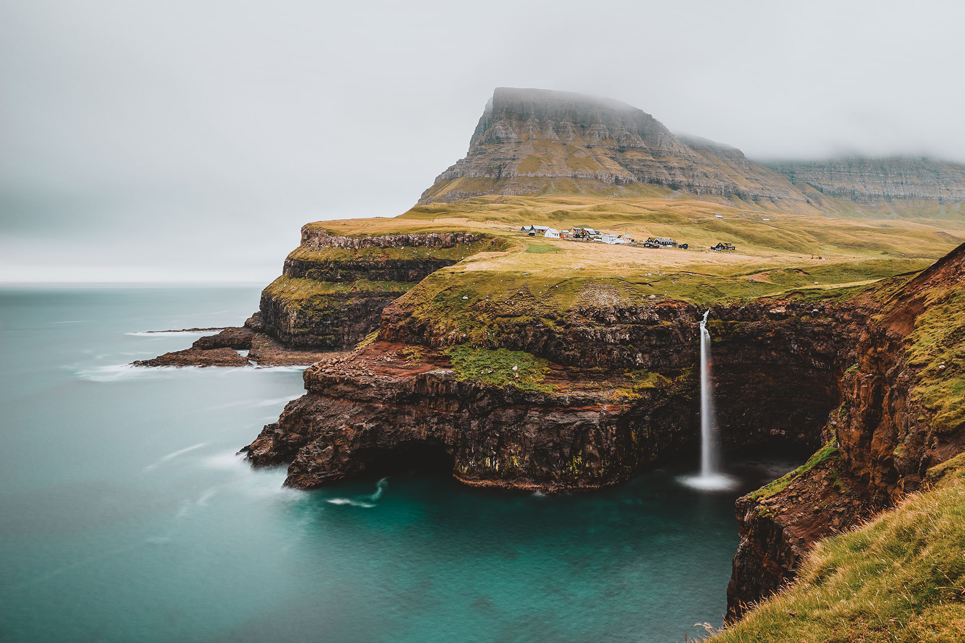 Faroe Islands Waterfall