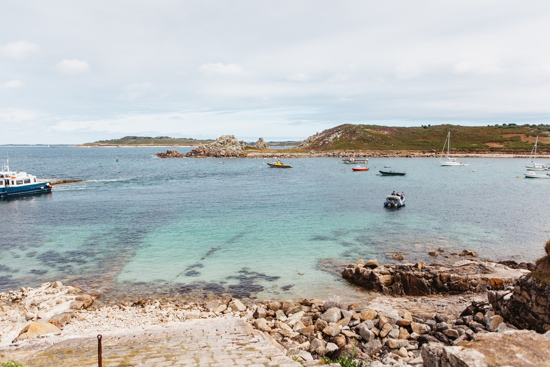 St Agnes Harbour clear water Isles of Scilly Sailing Holiday