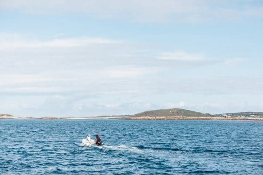 Tender to Tresco from ship sailing holiday
