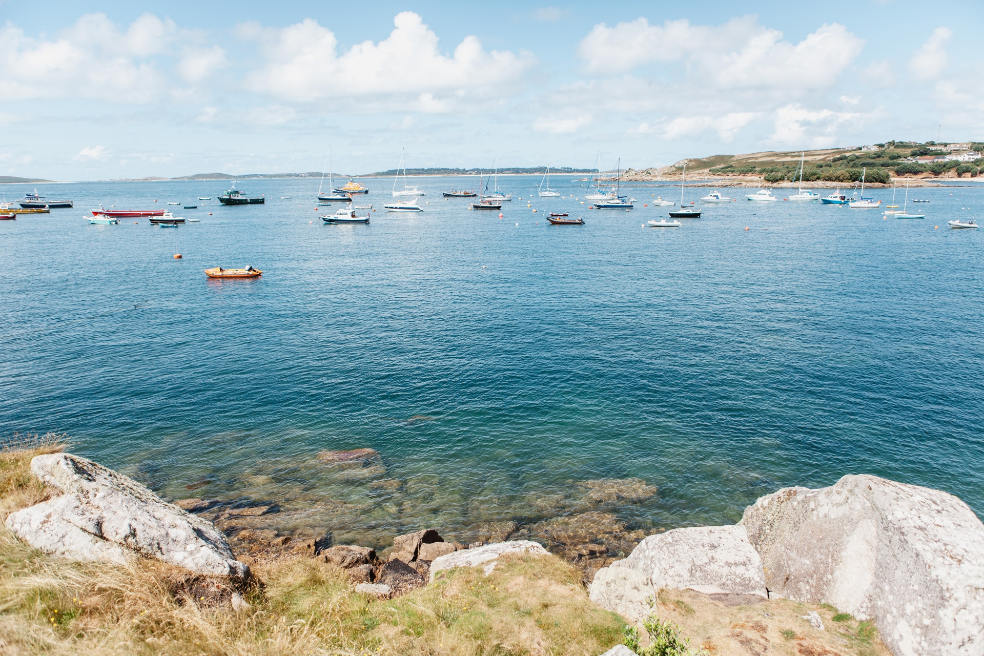 Clear harbour on Scilly Isles St Marys Sailing holiday
