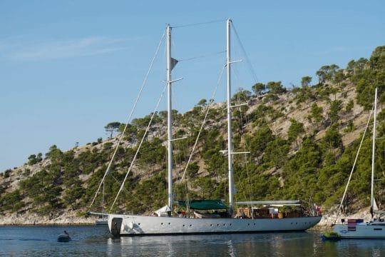 Kairos on anchor Greece