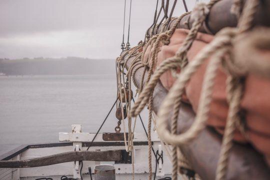 Lynher mainsail ropes