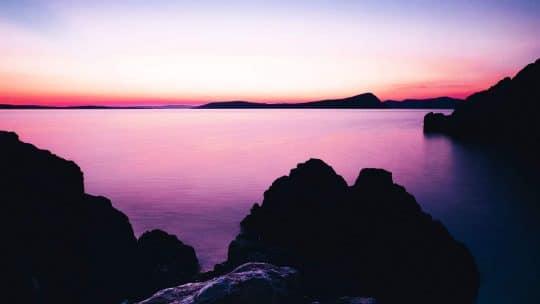 MED croatian sunset