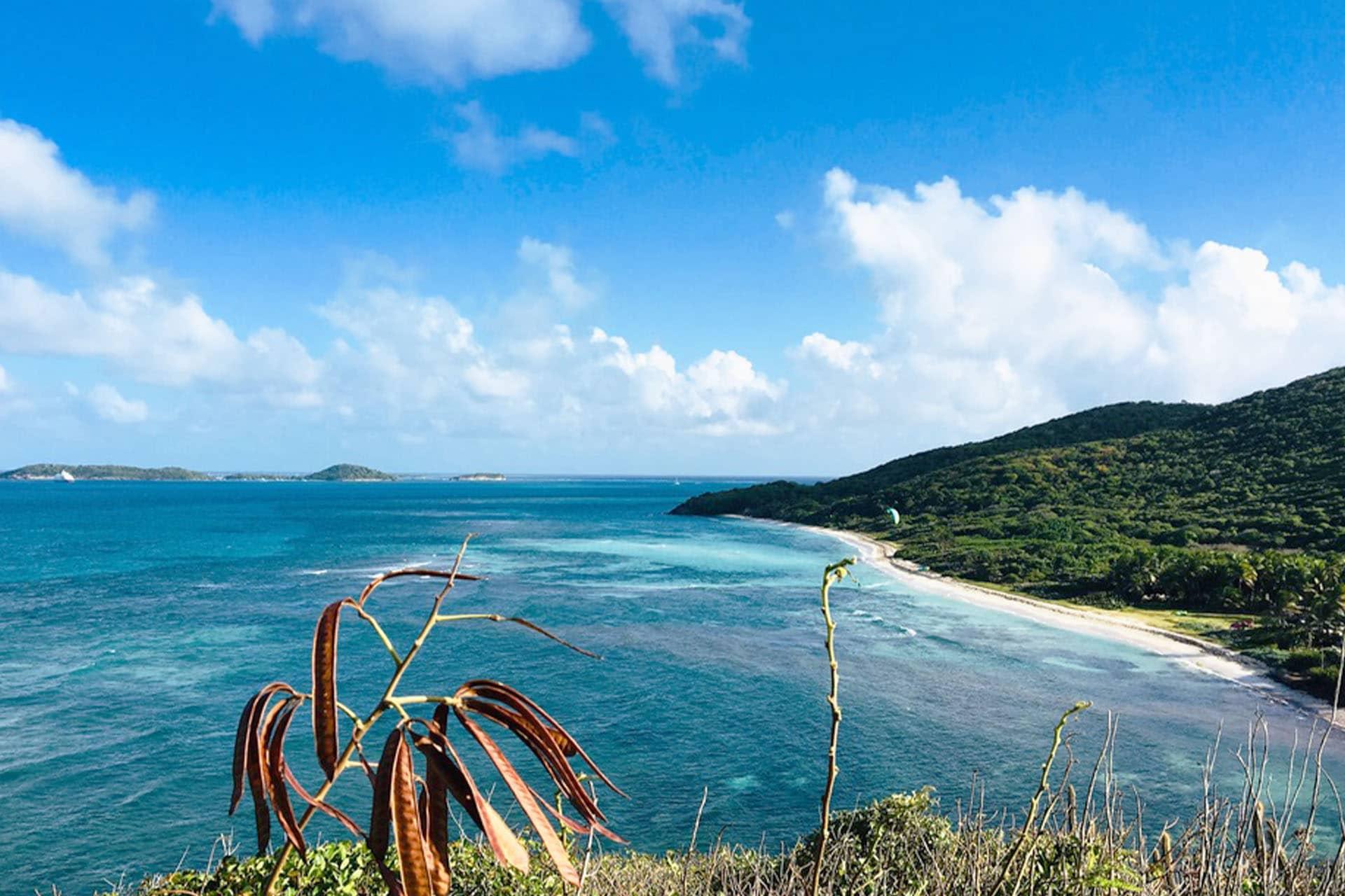 Caribbean island view