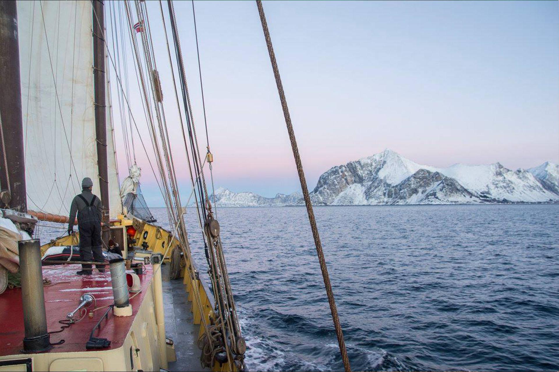Nooderlicht sailing in Norway
