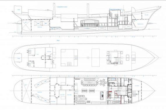 Oosterschelde deck plan