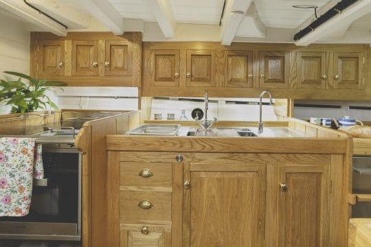 Pellew boat galley kitchen