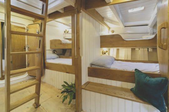 Pellew pilot cutter bunk area