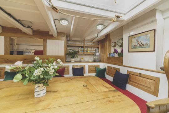 Pellew pilot cutter interior dining space
