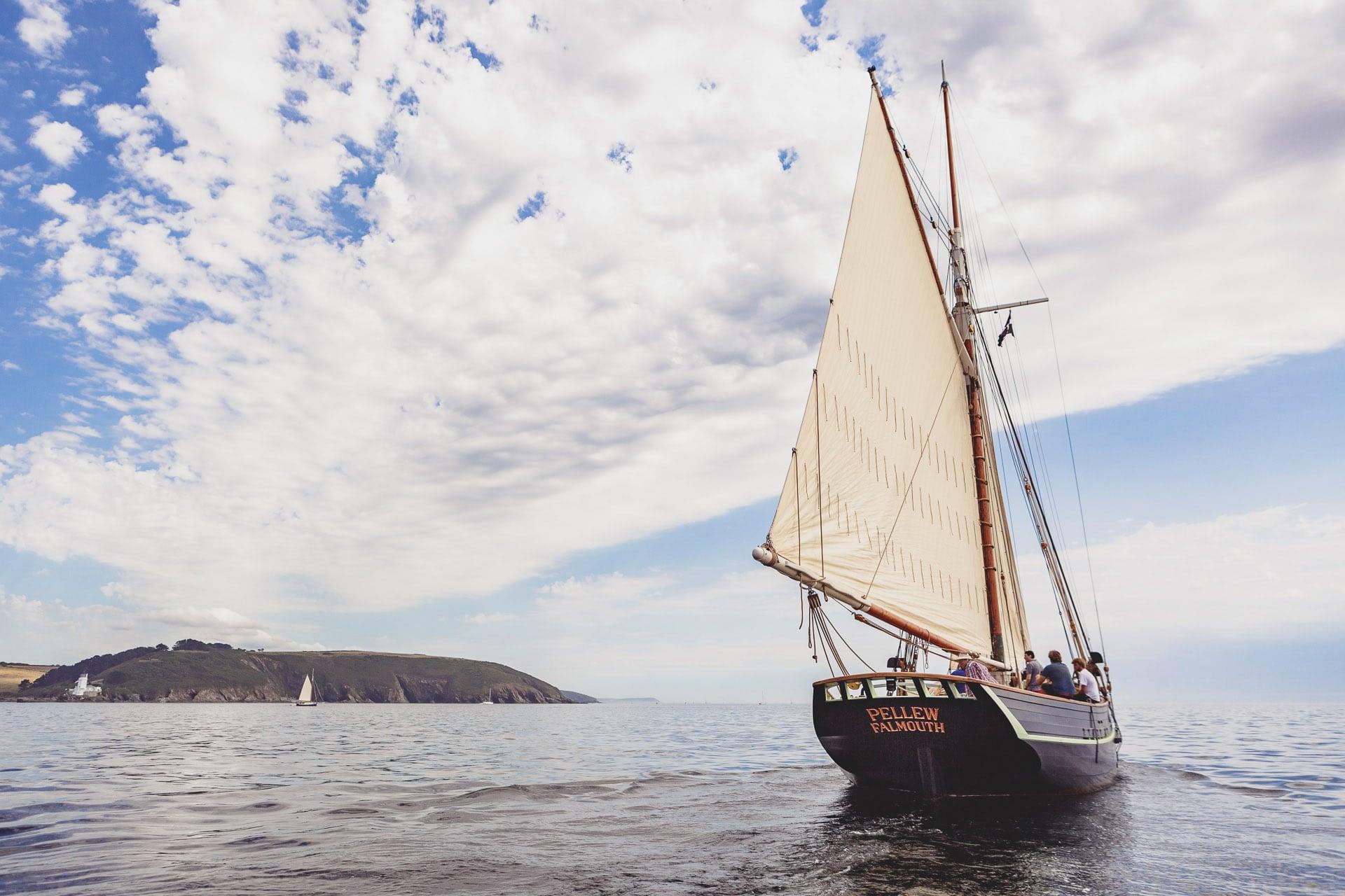 Pellew sailing stern Cornwall Falmouth bay