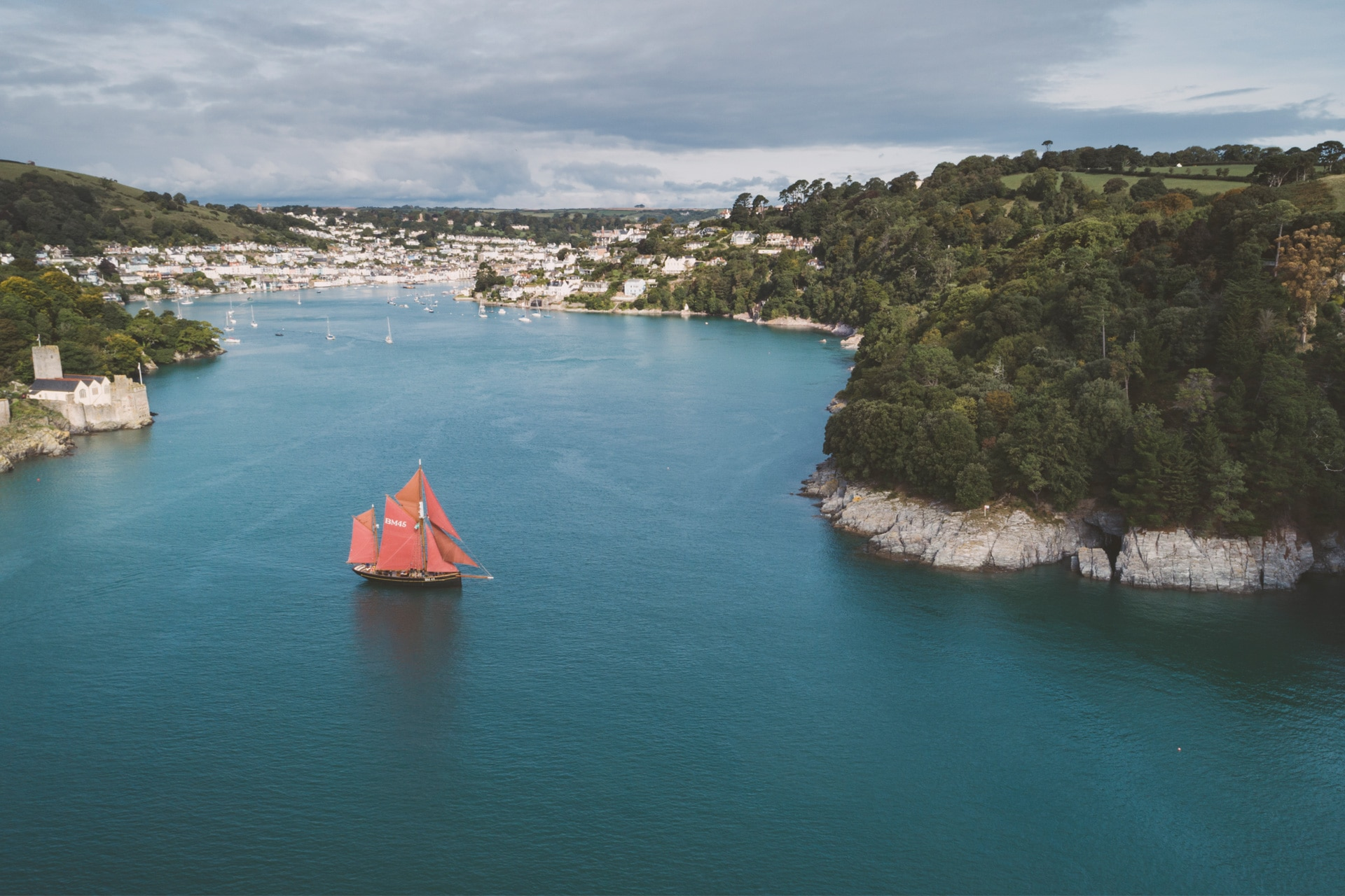 Pilgrim of Brixham sailing out of Dartmouth