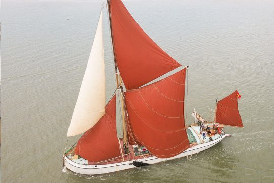 Reminder thames barge full sail