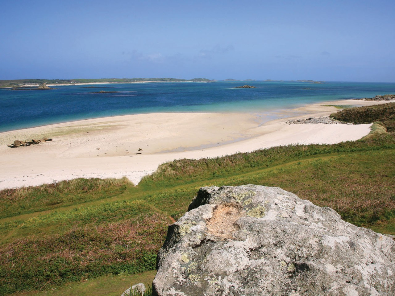 Scilly coastline in Summer