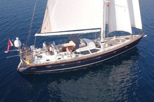 Skyelark under sail