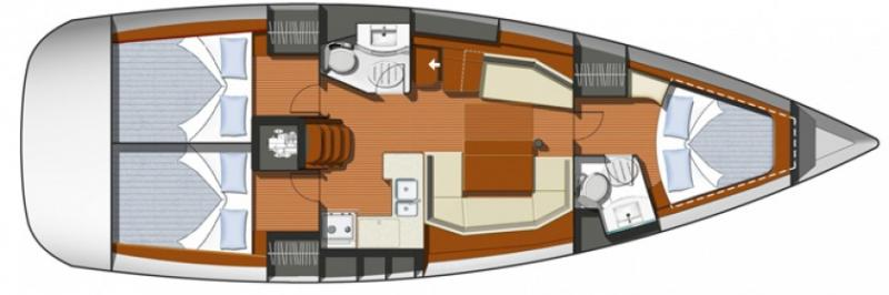 Stravaigin Deck plan
