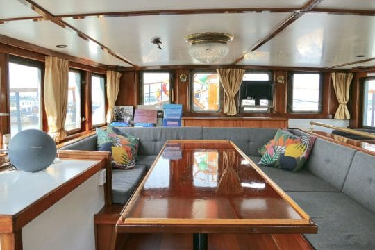 Living quarters on board tall ship Twister. Sailing holidays