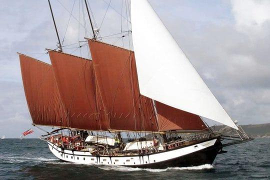 Trinovante under full sail