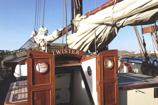 Twister Hatch on deck