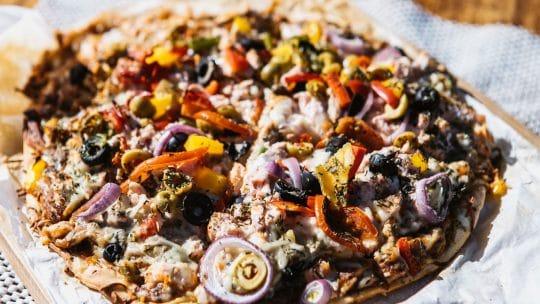 Twister food pizza