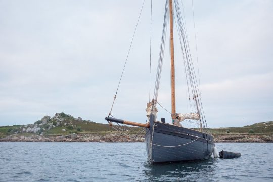 Unity anchored Isles of Scilly