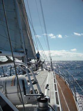 Zuza at sea