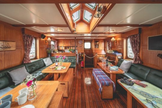 Venturesail-Blue-Clipper-tallship-saloon-galley
