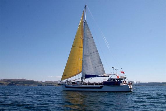 Zuza sailing yacht in Scotland