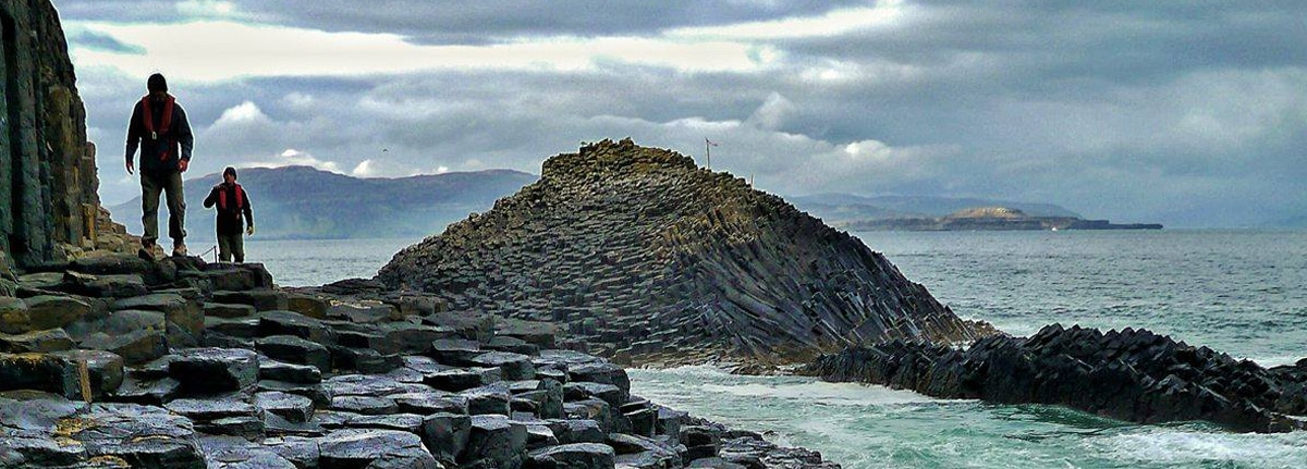 granite stacks in the Hebrides
