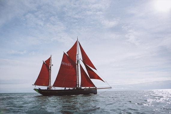 Classic sailing pilgrim